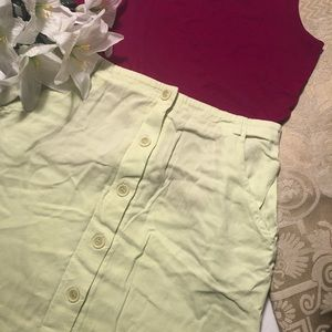 Caribe, Inc. | Light Green Button-Up Maxi Skirt
